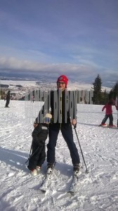 Pe munte, la schi