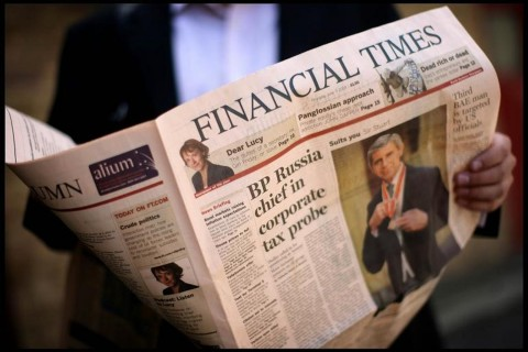 Ziarul Financial Times, vândut pe 1,19 miliarde euro
